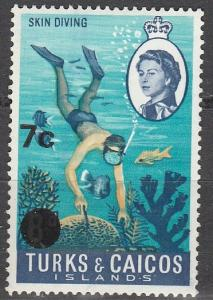 Turks & Caicos #187 F-VF Unused (S602)