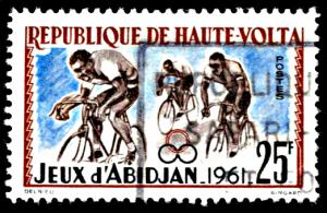 Upper Volta 104, used, Bicycling at Abidjan Games
