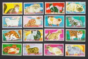 CATS BREEDS = Bernese, Siamese, Maine Coon,.. Set of 16, Guinea Equatorial