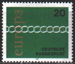 Germany. 1971. 675 from the series. Europa Sept. MNH.