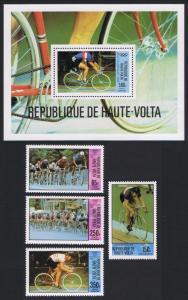 Upper Volta Olympic Games Moscow 4v+MS SG#563-MS567 MI#795-798+Block 55