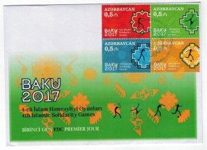 Azerbaijan 2017 FDC Stamps Sport Islamic Solidarity Games Soccer Tennis Box