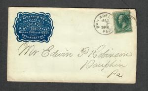 US Adv Cover Kirkpatrick+Co Hides Oil+Leather Philadelphia PA 1881