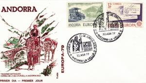 Spanish Andorra 1979 Europa issue on First Day Cover  clean unaddressed