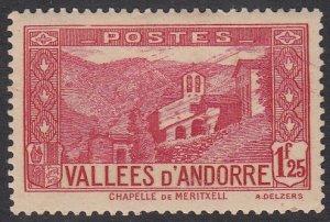 French Andorra 52A MLH CV $6.00