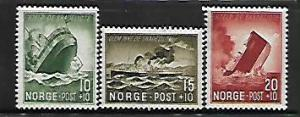 NORWAY, B35-B37, MINT HINGED, IRMA SINKING