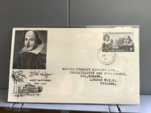 William Shakespeare   1964 Stanley Gibbons Falkland Islands  stamp cover R29320