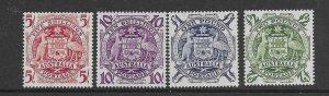 australia 218-21  1949 set 4 VF  LH