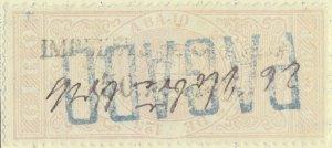 ESPAGNE / SPAIN / ESPAÑA 1875 Fiscal (GIRO) 5c de P. sobrecarga IMPto de GUERRA