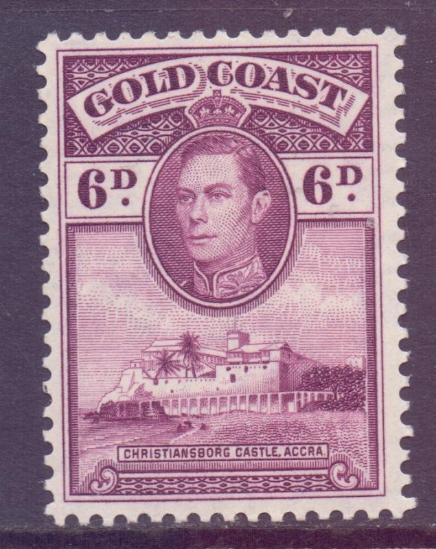 Gold Coast Scott 121 - SG126a, 1938 George VI 6d MH*