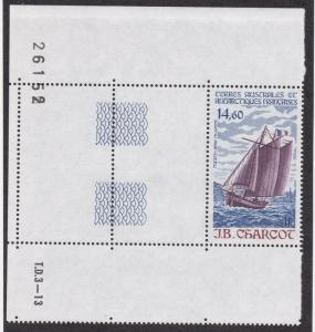 French Southern Antarctic Territory # C96, Ship J B Carrcot, NH, Half Cat.
