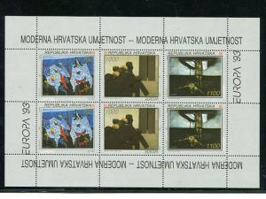 Croatia 1993  Europa sheet Mint VF NH