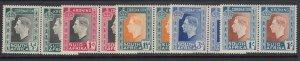 South Africa, Scott 74-78 (SG 71-75), MHR