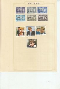 TRISTAN DA CUNHA 6 ALBUM PAGES OF MINT/USED VALUES/SETS