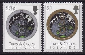 Turks and Caicos #1288-89 F-VF Mint NH ** Millennium