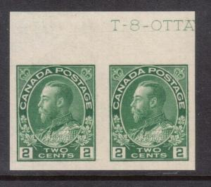Canada #137 XF/NH Pair With Inscription