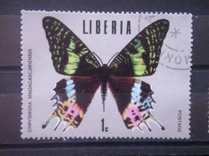 LIBERIA, 1974, CTO 1c, Scott 683, Tropical Butterflies