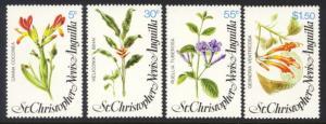 St. Kitts-Nevis Sc# 380-3 MNH Flowers
