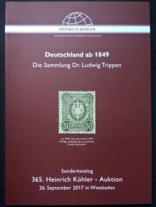 Auction Catalogue Deutschland ab 1849 Dr Ludwig Trippen Germany specialised