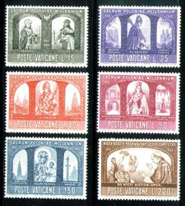 VATICAN Scott 433-8 MNH** 1966 Poland Christianization set