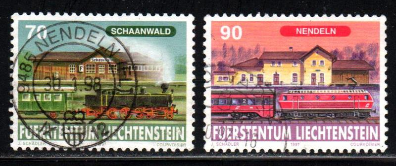 Liechtenstein # 1104-05 ~ Short Set 2/3 ~ Used, HMR ~ cv 1.15