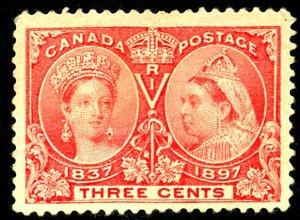 Canada #53 MINT NO GUM HR CREASES