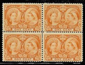 Canada #51 Mint Jubilee Block of 4