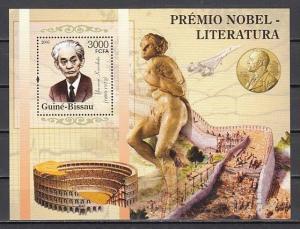 Guinea Bissau, Mi cat. 3189, BL528 A. Literature Nobel Prize Winners s/sheet. ^