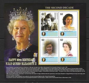 ANTIGUA SG3963a 2006 QUEEN ELIZABETH II 80th BIRTHDAY  SHEETLET  MNH