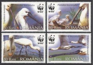 2006 Romania 6134-6137 WWF / Birds