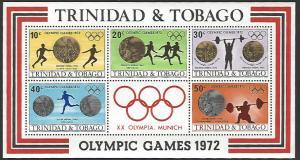 Trinida & Tobago #227a MNH Souvenir Sheet of 4