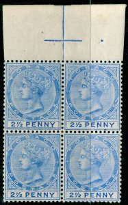 TOBAGO SG16c, 2½d dull blue, NH MINT. Cat £188+ SLASH FLAW.