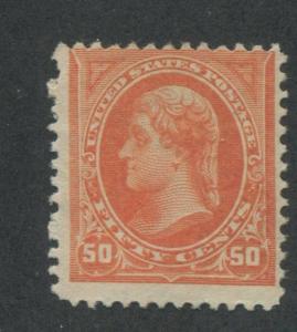 1894 US Stamp #260 50c Mint Average No Gum Catalogue Value $475