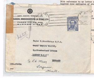 ARGENTINA Buenos Aires GB London Contents Royal Empire Society 1940 XX346