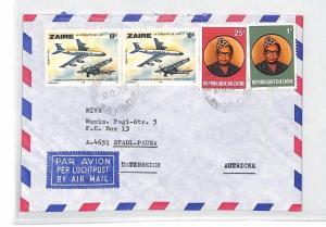 CA180 1980 Zaire *MBANDAKA* Airmail Cover Austria MIVA MISSIONARY VEHICLES