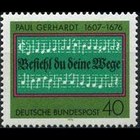 GERMANY 1976 - Scott# 1215 Hymn Writer Gerhardt Set of 1 NH