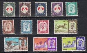 Abu Dhabi # 26-37, Flags, Falcon Palace, Hinged, 1/3 Cat