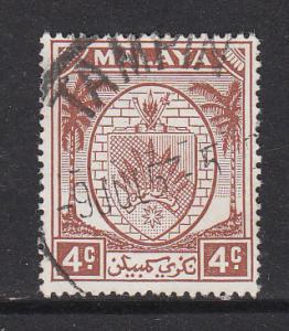 Malaya Negri Sembilan 1949 Sc 41 4c Used