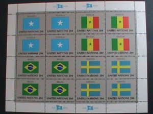UNITED NATION-1983 SC#411-414  U. N. FLAGS SERIES MNH FULL SHEET- VERY FINE