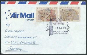 AUSTRALIA 1991 cover to Germany - nice franking - Sydney pictorial pmk.....12854
