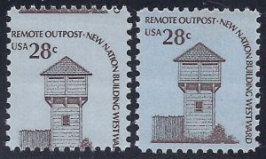 1604 - 28c Misperf Error / EFO Remote Outpost Mint NH