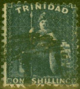 Trinidad 1862 1s Bluish Slate SG63 Good Used