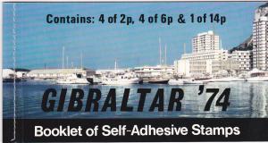 Gibraltar 309a Complete Booklet Set MNH UPU (B)