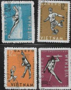 North Vietnam  1963 GANEFO Games SC# 276-279 CTO