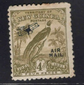 New Guinea Scott C19 MH* Airmail stamp few perf tips toned