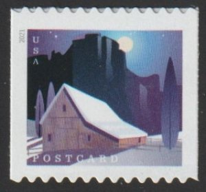 SC# 5553 - (36c) -  American Barns, Winter - COIL, 4 / 4 - MNH single