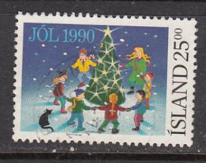 Iceland SC# 716  1990 25K Christmas used