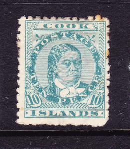 COOK  ISLANDS 1893-1900  10d    MAKEA  MLH  P12x11 1/2  SG 10