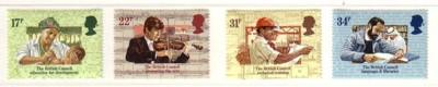 Great Britain Sc 1067-70 1984 British Council stamp set mint NH