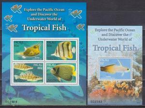 Palau 2007 fish marine life klb+s/s MNH